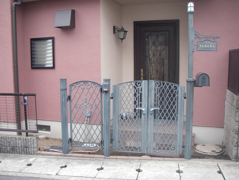 アルミ製門扉2施工前
