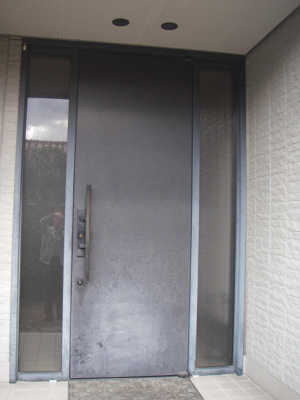 アルミ製ドア1施工前