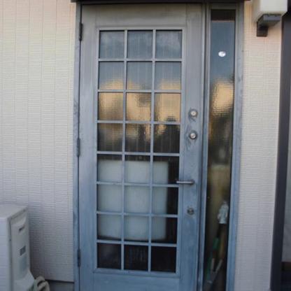 アルミ製ドア2施工前