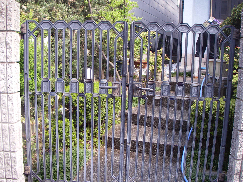 アルミ製門扉4施工前
